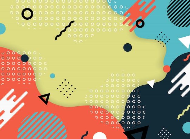 Abstract modern kleurenontwerp van document gesneden decoratieachtergrond. Premium Vector