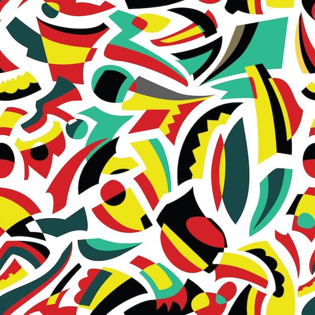 Abstract naadloos patroonontwerp Premium Vector