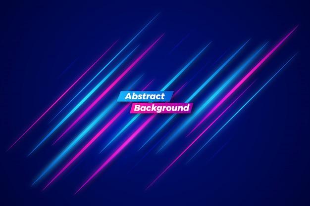 Abstract neon beweging achtergrond sjabloon Premium Vector