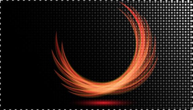 Abstract neon gloeiend lichteffect bij transparant Premium Vector