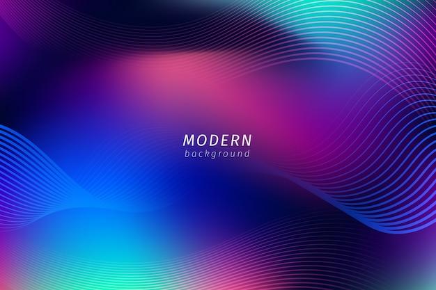 Abstract neon lijnen behang Gratis Vector
