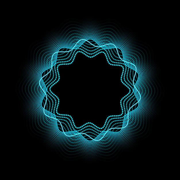 Abstract neonframe. lichtend en gloeiend neoneffect. Premium Vector