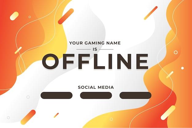 Abstract offline twitch bannerontwerp Gratis Vector