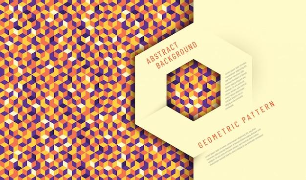 Abstract ontwerp als achtergrond met geometrische textuur. Premium Vector