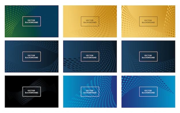 Abstract ontwerp als achtergrond met trillende kleur Premium Vector