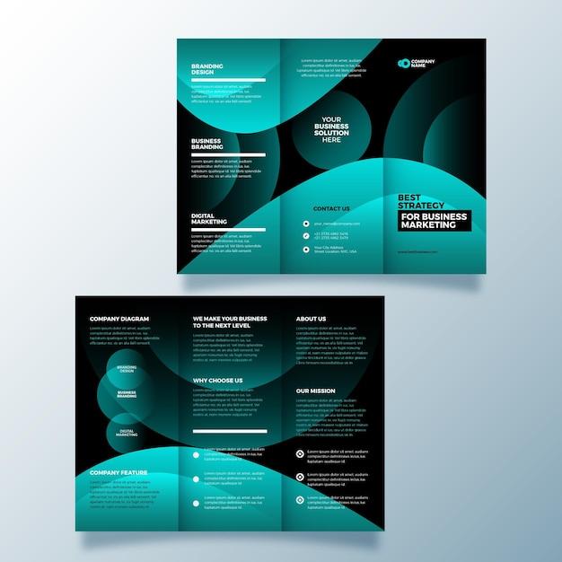 Abstract ontwerp driebladige brochure Gratis Vector