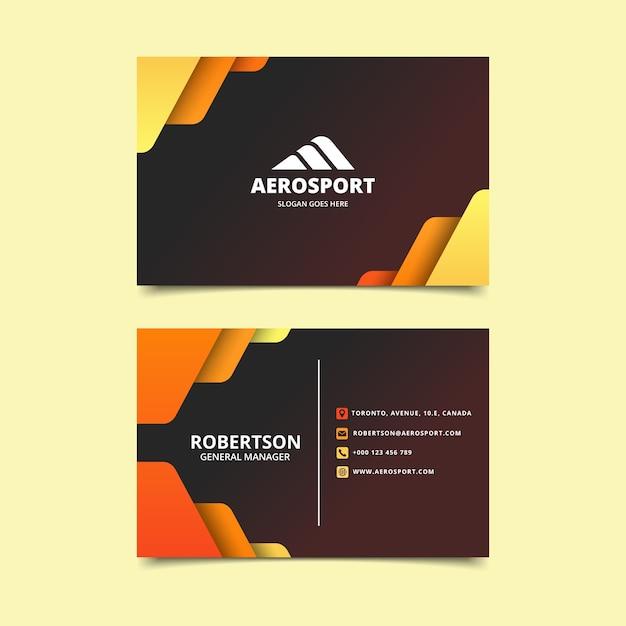 Abstract ontwerp kleurrijk visitekaartje Gratis Vector