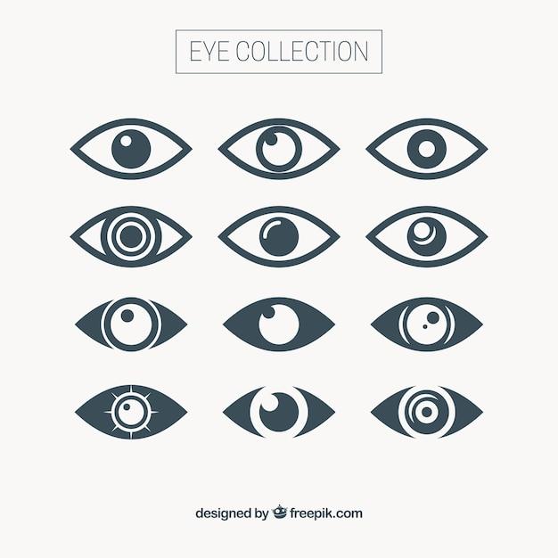 Abstract oog collectie Gratis Vector