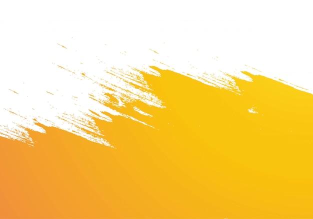 Abstract oranje aquarel penseelstreek achtergrond Gratis Vector