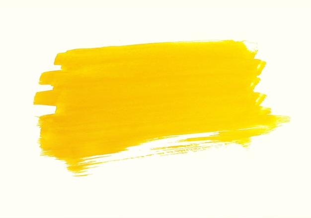 Abstract oranje aquarel penseelstreek Gratis Vector