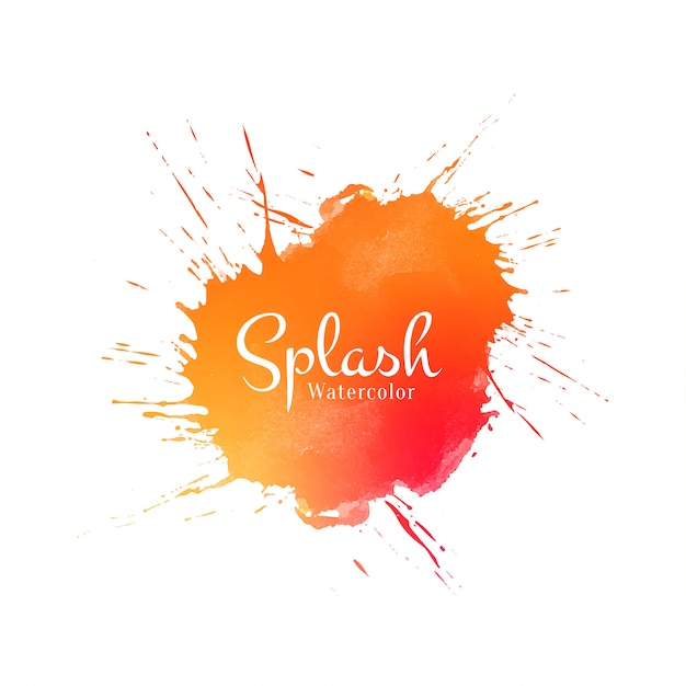 Abstract oranje aquarel splash achtergrond Gratis Vector