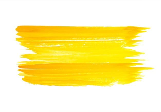 Abstract oranje penseelstreek ontwerp Gratis Vector