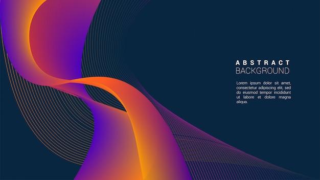 Abstract oranje wave backhround Premium Vector