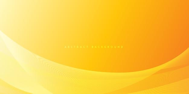 Abstract oranje zachte golf verloop achtergrond Premium Vector
