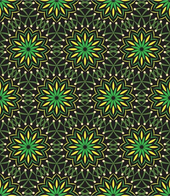 Abstract ornament als achtergrond, naadloos patroon met bloemen Premium Vector