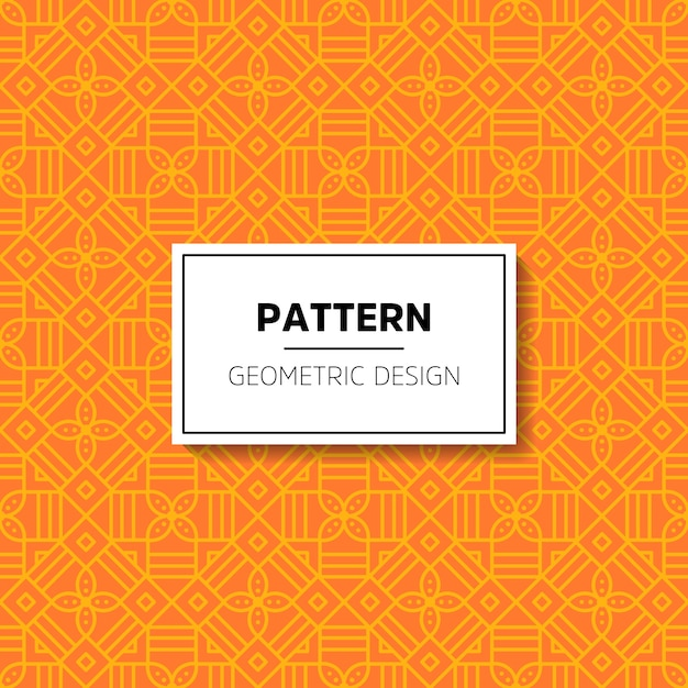 Abstract ornament patroon Gratis Vector