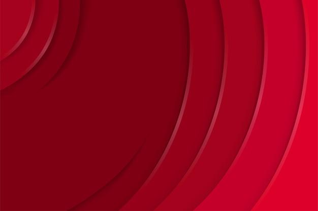 Abstract papier gesneden achtergrond sjabloon gebruik rode kleurvariaties. curve stijl ontwerp. Premium Vector