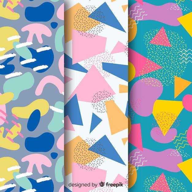 Abstract patroon collectie tekenen ontwerp Gratis Vector