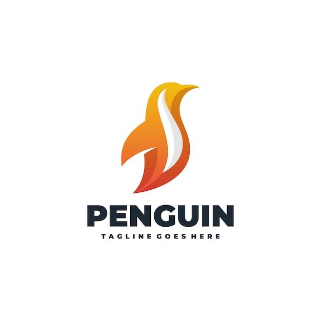 Abstract pinguïn vector sjabloon Premium Vector
