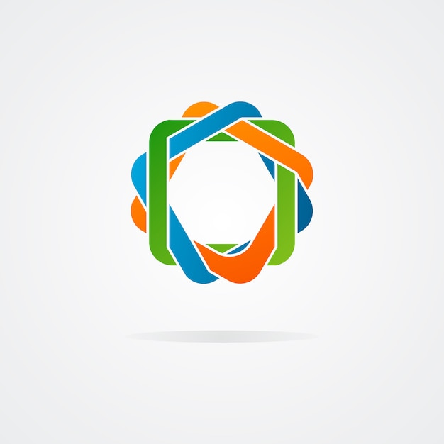 Abstract raadsel logo Premium Vector