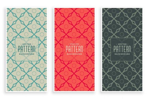 Abstract retro kleuren decoratief patroon Gratis Vector