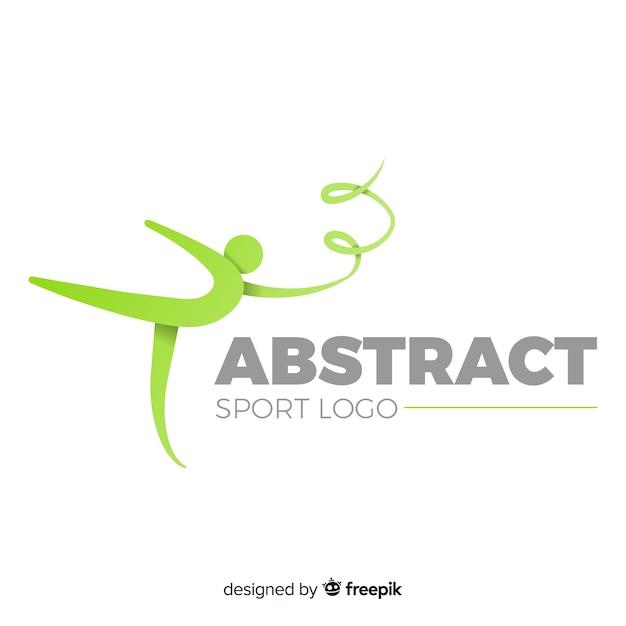 Abstract silhouet sport logo plat ontwerp Gratis Vector