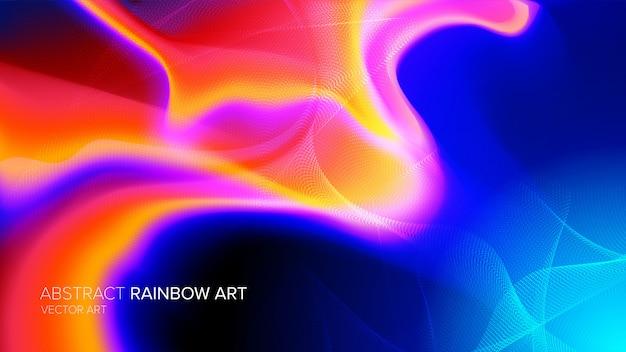 Abstract spectrum art Premium Vector