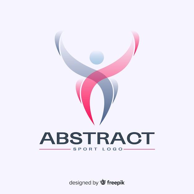 Abstract sport logo sjabloon Gratis Vector