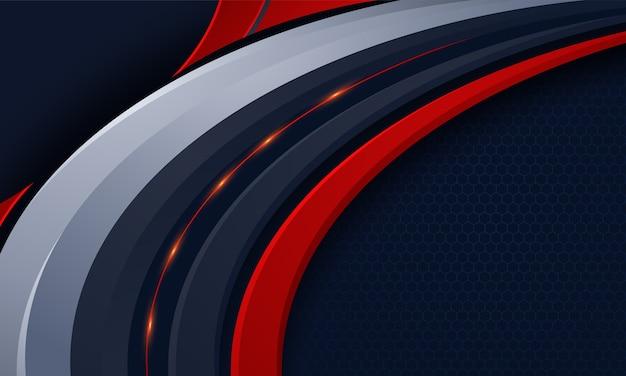 Abstract tech achtergrond conceptontwerp Premium Vector