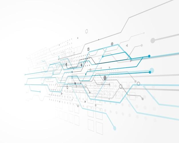 Abstract technologieconceptontwerp met draadnetwerk Gratis Vector