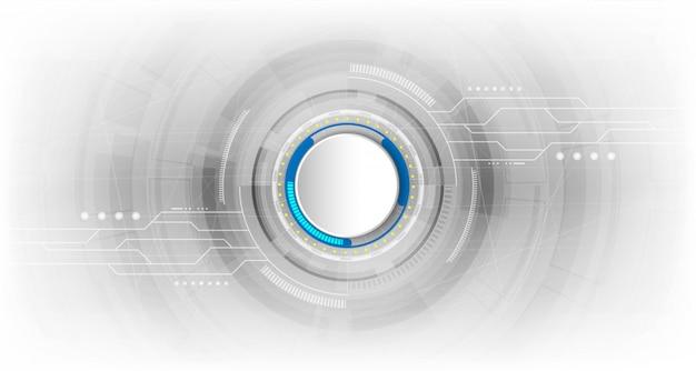 Abstract technologisch concept als achtergrond met diverse technologieelementen Premium Vector