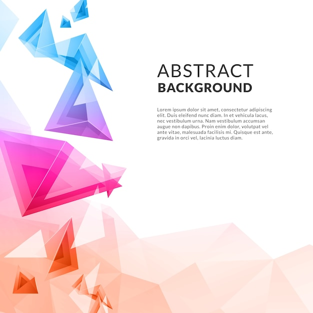 Abstract triangle polygonal achtergrond Gratis Vector
