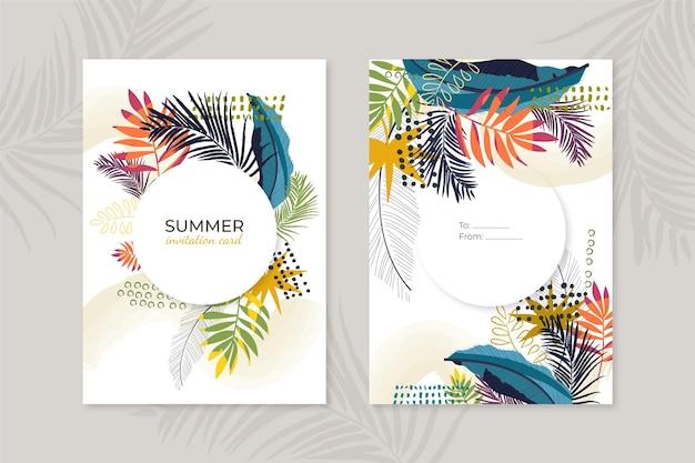 Abstract tropisch kaartenconcept Gratis Vector