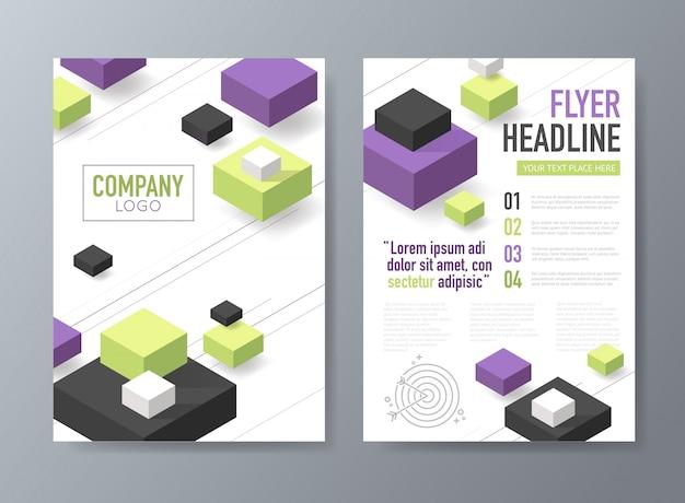 Abstract vector brochure flyer ontwerpsjabloon Premium Vector