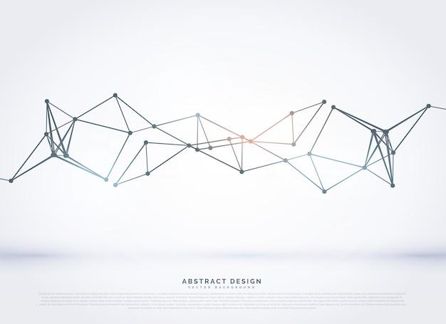 Abstract veelhoekige mesh diagram ontwerp achtergrond Gratis Vector