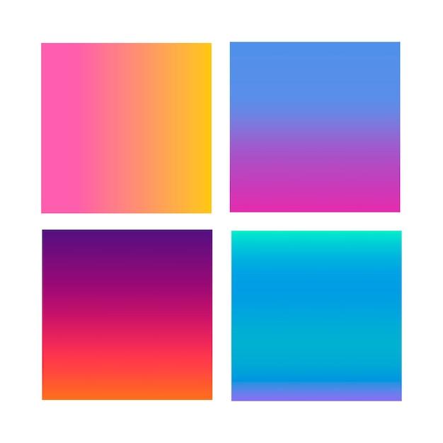 Abstract verloop op het gebied van violet, roze, blauw Premium Vector