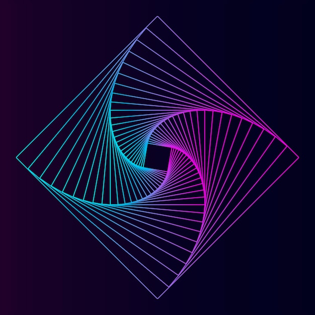 Abstract vierkant geometrisch element Gratis Vector