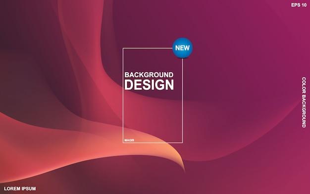 Abstract vloeibaar kleurenontwerp als achtergrond. samenstelling van de vloeistofgradiëntvormen. Premium Vector