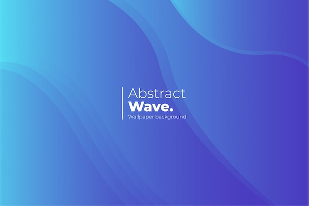 Abstract wave wallpaper achtergrond Gratis Vector