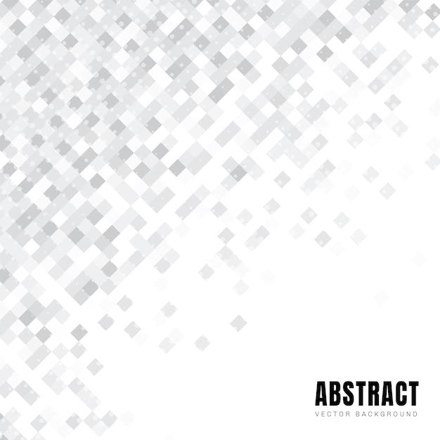 Abstract wit vierkanten diagonaal patroon Premium Vector