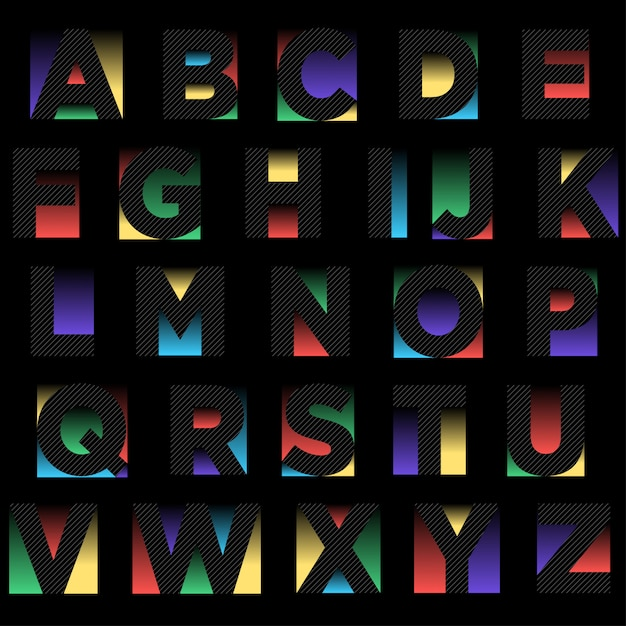 Abstract zwart typografieontwerp Premium Vector