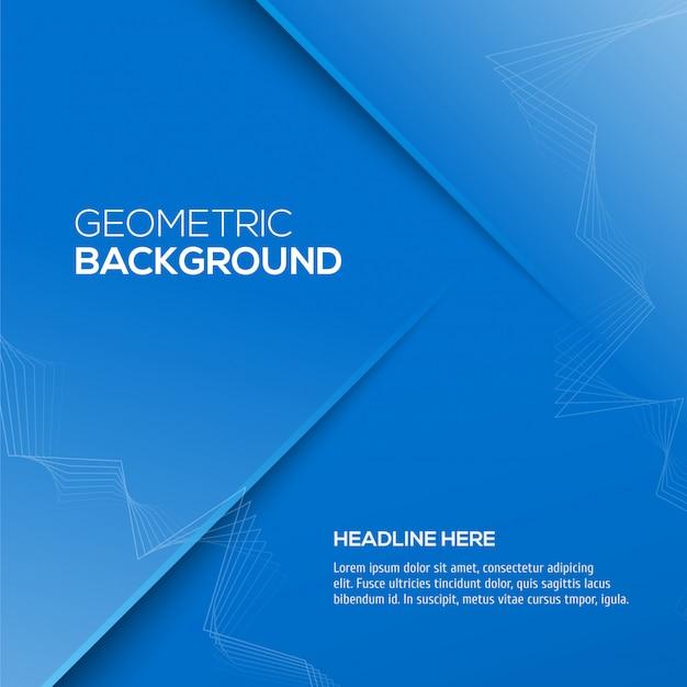 Abstracte 3d blauwe kleur als achtergrond Premium Vector