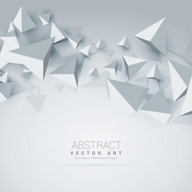 abstracte 3D-driehoek vormen de achtergrond Gratis Vector