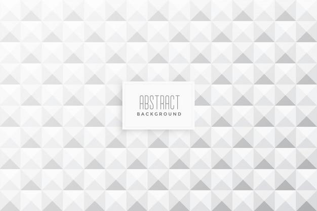 Abstracte 3d driehoeken vorm witte achtergrond Gratis Vector