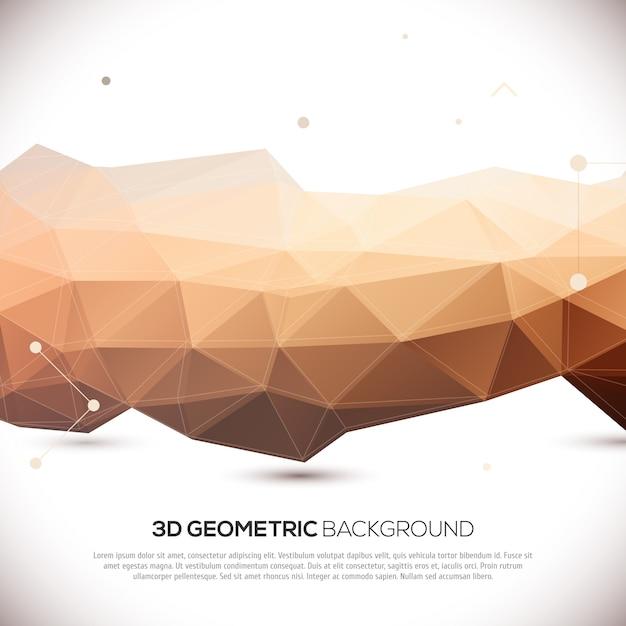 Abstracte 3d geometrische achtergrond Premium Vector