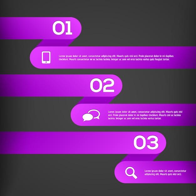 Abstracte 3d infographic-sjabloon Premium Vector