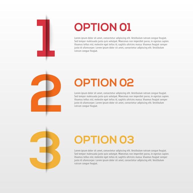 Abstracte 3d-infographics Premium Vector