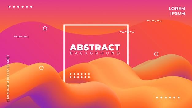 Abstracte 3d wave achtergrond Premium Vector