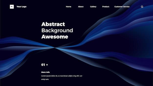 Abstracte achtergrond bestemmingspagina Premium Vector