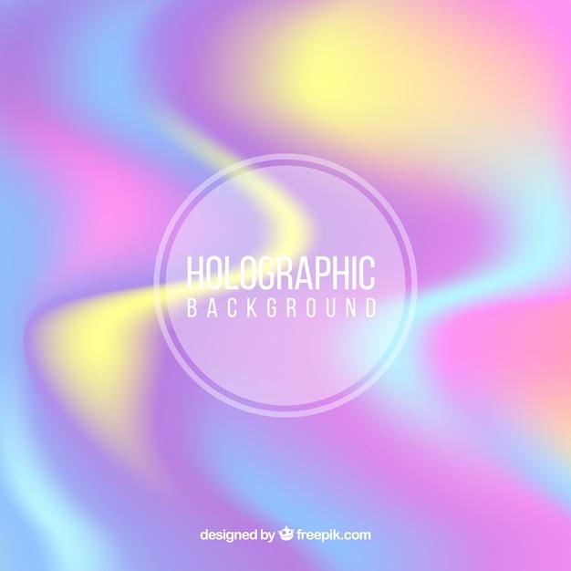 Abstracte achtergrond defocused holografisch Gratis Vector